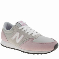 womens new balance light grey 420 suede trainers