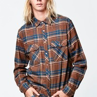 Brixton Archie Navy & Brown Flannel Shirt - Mens Shirts - Navy/Brown