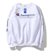 Champion autumn winter popular logo classic letters printed pure cotton and cashmere sweater round collar cover for men and women