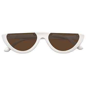 Clout Goggles Cat Eye Sunglasses Vintage Half Mod Style Retro Sunglasses