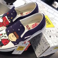 Peanuts x Vans Slip-On Skateboarding Shoes 35-44