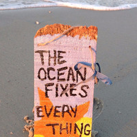 Hand painted beach sign, Beach Signs, The Ocean fixes everything, wooden sign, beach quote, beach wall art, nautical decor