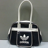 Rare ADIDAS TREFOIL Hand Bag black white