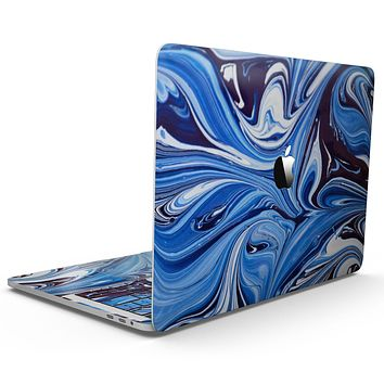 Blue and White Blended Paint - MacBook Pro with Touch Bar Skin Kit