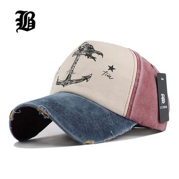 Trendy Winter Jacket [FLB] 5 panel hip hop snapback hats couples hat Man Woman pure cotton baseball caps do old pirate ship anchor gorras wash cap AT_92_12
