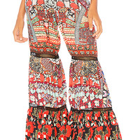 Camilla Wide Leg Tiered Pant in Queen Alika | REVOLVE
