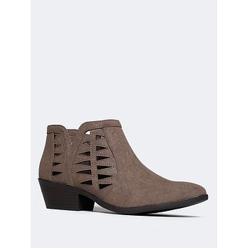 Cut Out Ankle Bootie