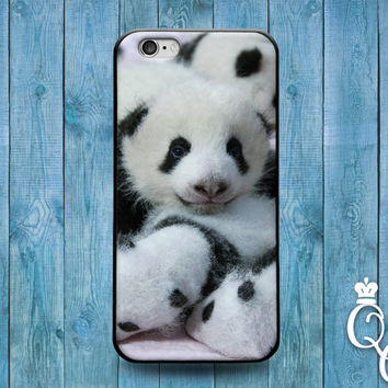 iPhone 4 4s 5 5s 5c 6 6s plus iPod Touch 4th 5th 6th Generation Cute Black White Asian Baby Pandas Panda Phone Cover Funny Animal Fun Case