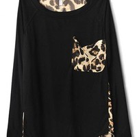 # Free Shipping # Ladies Black Cotton and Chiffon Top One Size WO11664b   from ViwaFashion
