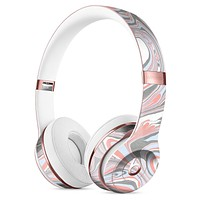 Marbleized Swirling Coral and Gray v92 Full-Body Skin Kit for the Beats by Dre Solo 3 Wireless Headphones