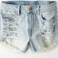 AEO Women's Hi-rise Festival Shortie (Light Destroy Wash)