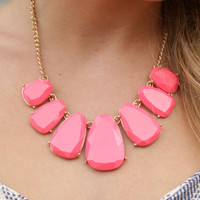 Dare Me Pink Statement Necklace