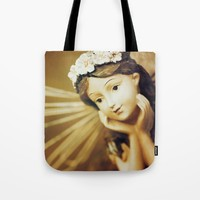 Daydreamer - Vintage Angel Tote Bag by Legends Of Darkness Photography