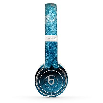 The Blue Broken Concrete Skin Set for the Beats by Dre Solo 2 Wireless Headphones