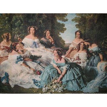 "DaDa Bedding 'Her Ladies in Waiting' Spanish Party Classical French Rococo Woven Tapestry Wall Hanging - 36"" x 50"""