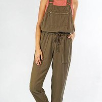 Relaxed Fit Tencel Overall - Green