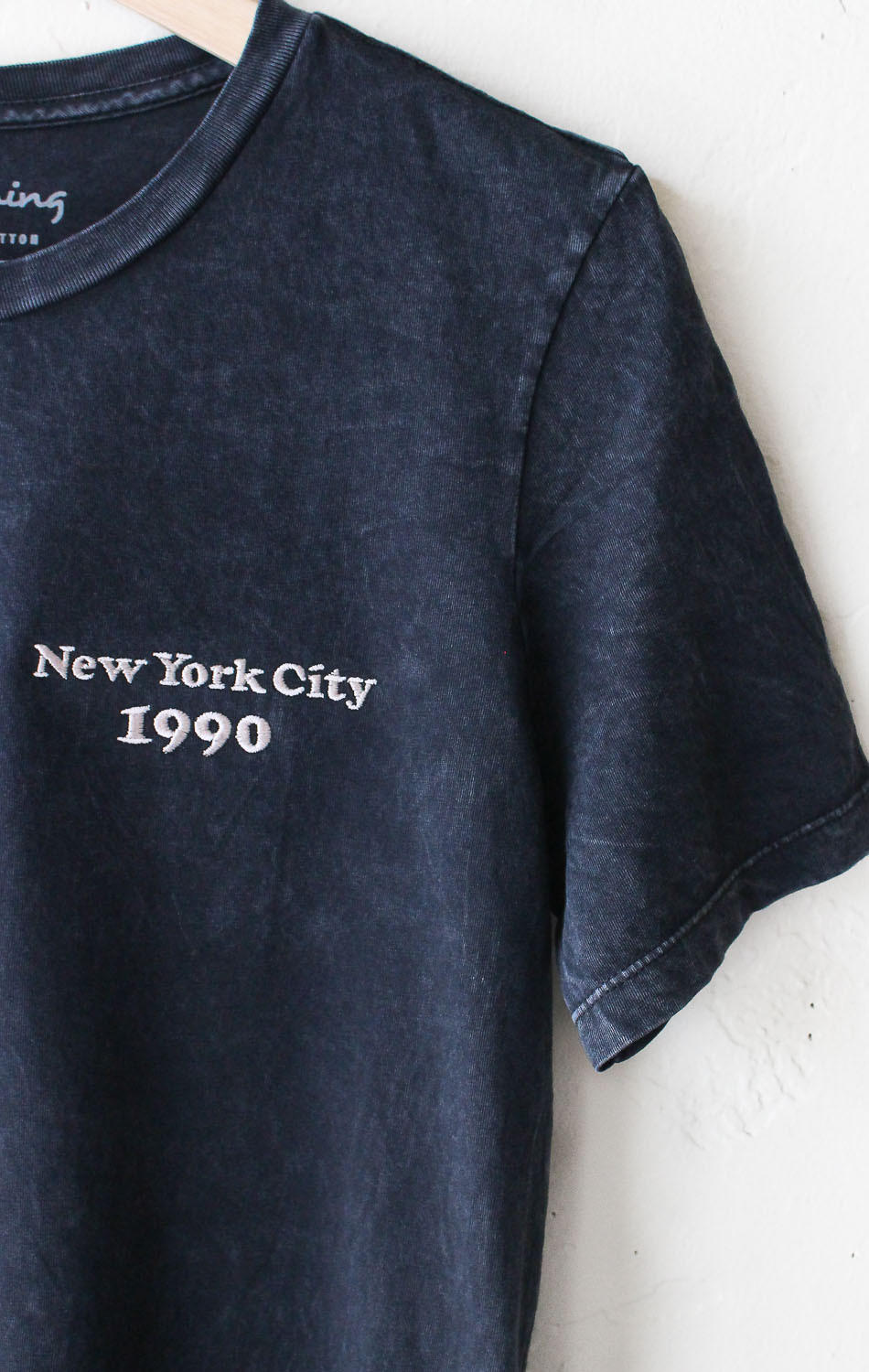 Image of New York City 1990 Embroidered Tee