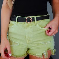 Had Your Chance Shorts: Dusty Olive