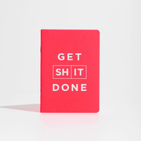 Red Get Shit Done Notebook