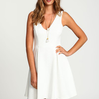 Quilted Fit and Flare Dress