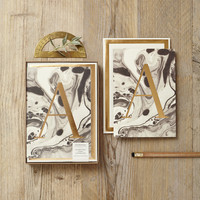 Marble and Gold Foil Monogram Boxed Set