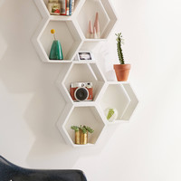 Triple Honeycomb Wooden Shelf | Urban Outfitters