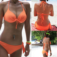 New Women's Sexy Bikini Push-up Padded Bra Bathing Suit Swimsuit Swimwear BT