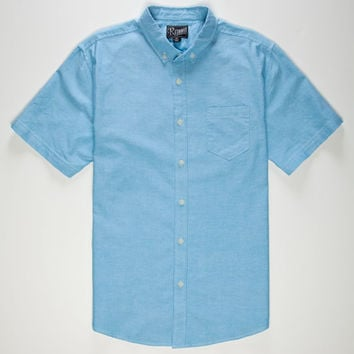 Retrofit Bert Mens Oxford Shirt Turquoise  In Sizes