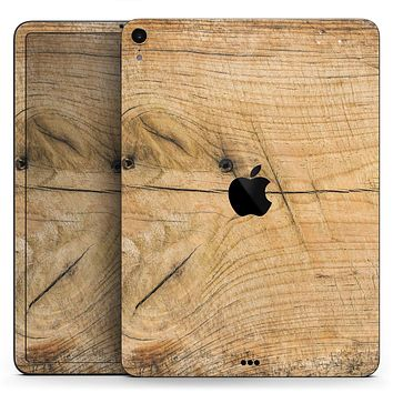 "Raw Wood Planks V5 - Full Body Skin Decal for the Apple iPad Pro 12.9"", 11"", 10.5"", 9.7"", Air or Mini (All Models Available)"