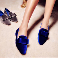 Summer Velvet Butterfly Height Increase Shoes [4920469252]