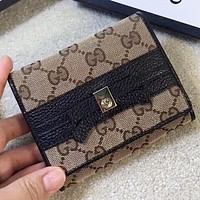 GUCCI  New fashion more letter canvas wallet purse handbag