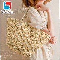 Beach bags straw quality shoulder tote