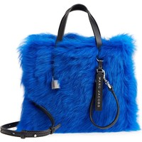MARC JACOBS Mini The Grind Genuine Shearling Tote | Nordstrom