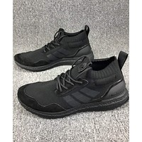 ADIDAS Ultra Boost Mid Knit Vintage Comfortable Sexy Sneakers F-CSXY full black