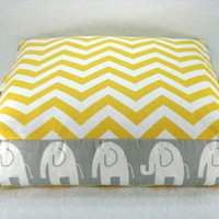 Floor Pillow Floor Seating Childrens Floor Pillow Boxed Cushion Zig Zag Pillow Chevron Cushion 18x18x4 Covers Only