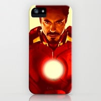 Tony Stark/ Iron Man/ Robert Downey Jr. iPhone & iPod Case by Hands in the Sky