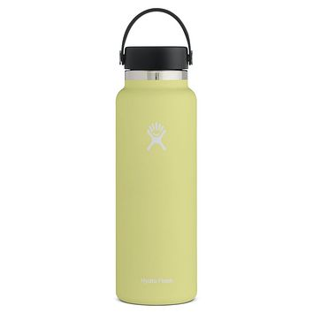 40 oz Wide Mouth Hydro Flask - Pineapple