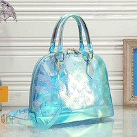 LV Louis Vuitton Fashion Women Laser Shoulder Bag Female Inclined Shoulder Bag