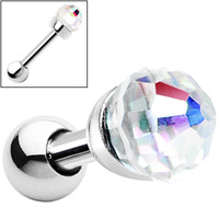Silver 925 Aurora Crystal Ball Cartilage Tragus Earring | Body Candy Body Jewelry