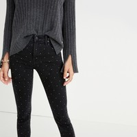 "9"" High-Rise Skinny Jeans: Metallic Dot Edition : shopmadewell high-rise skinny jeans 