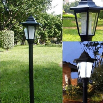 Outdoor Solar Power LED Path Way Wall Landscape Mount Garden Fence Lamp Light TR [8270469121]