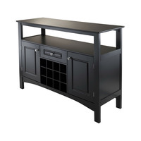 Dining Room Storage Buffet Sideboard Server Console Table in Black