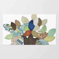 Silver Tree Rug by Erin Brie Art