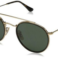 DCCK2JE Ray-Ban Metal Unisex RB3647N Polarized Round Sunglasses