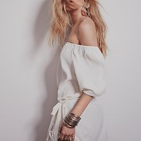 Free People Womens Off the Shoulder Dress