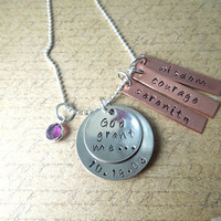 Serenity Prayer Necklace - Inspirational Pendant - God Grant Me - Hand Stamped Custom Pendant