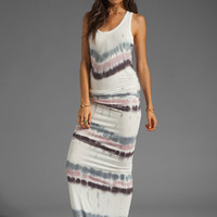 Young, Fabulous & Broke Hamptons Dress in Lavender Drizzle Stripe from REVOLVEclothing.com