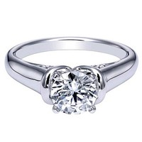 "Ben Garelick Royal Celebrations ""Quinn"" High Polish Solitaire Diamond Engagement Ring"