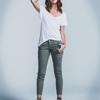 Rsq Fray Crop Womens Skinny Jeans Olive  In Sizes