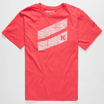 Hurley Icon Slash Boys T-Shirt Heather Red  In Sizes